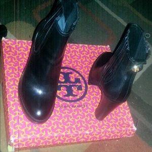 Black High Heel Tory Burch Boots